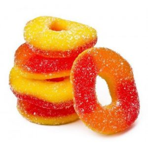 CBD Infused Peach Ring Gummies